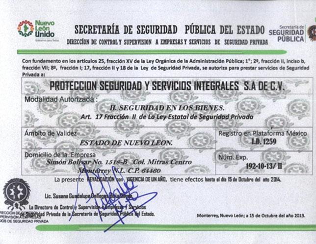 GUARDIAS DE SEGURIDAD EN MONTERREY